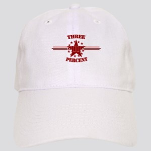 Three Percent Red Baseball Cap